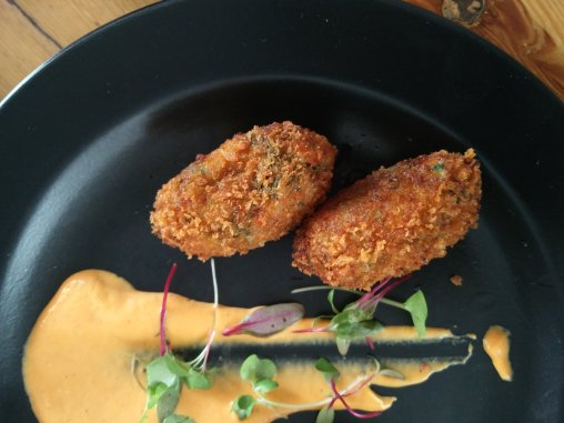 zucchinni and kale croquettes eatstyleshop perch delhi wine and bar coffee